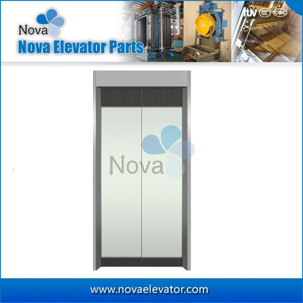 Fashion Design Passenger Elevator Glass Door Plate Commercial