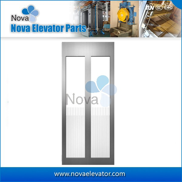Elevator Glass Door Sightseeing Elevator Automatic Center Opening